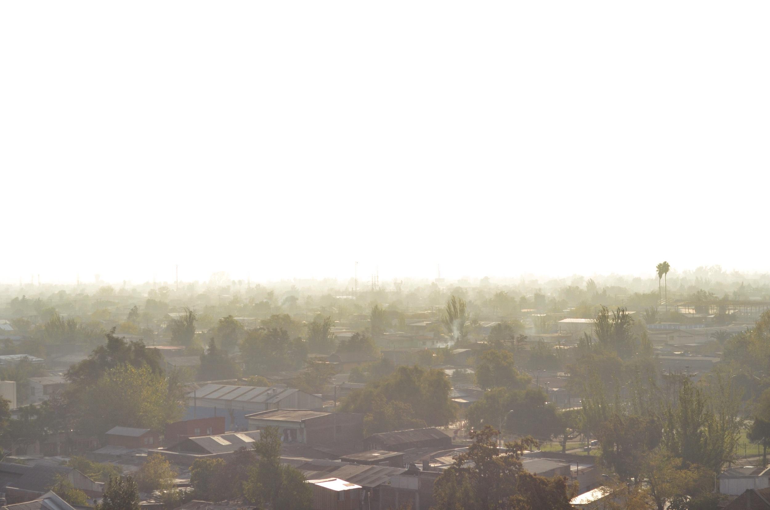 smoggy Santiago skyline