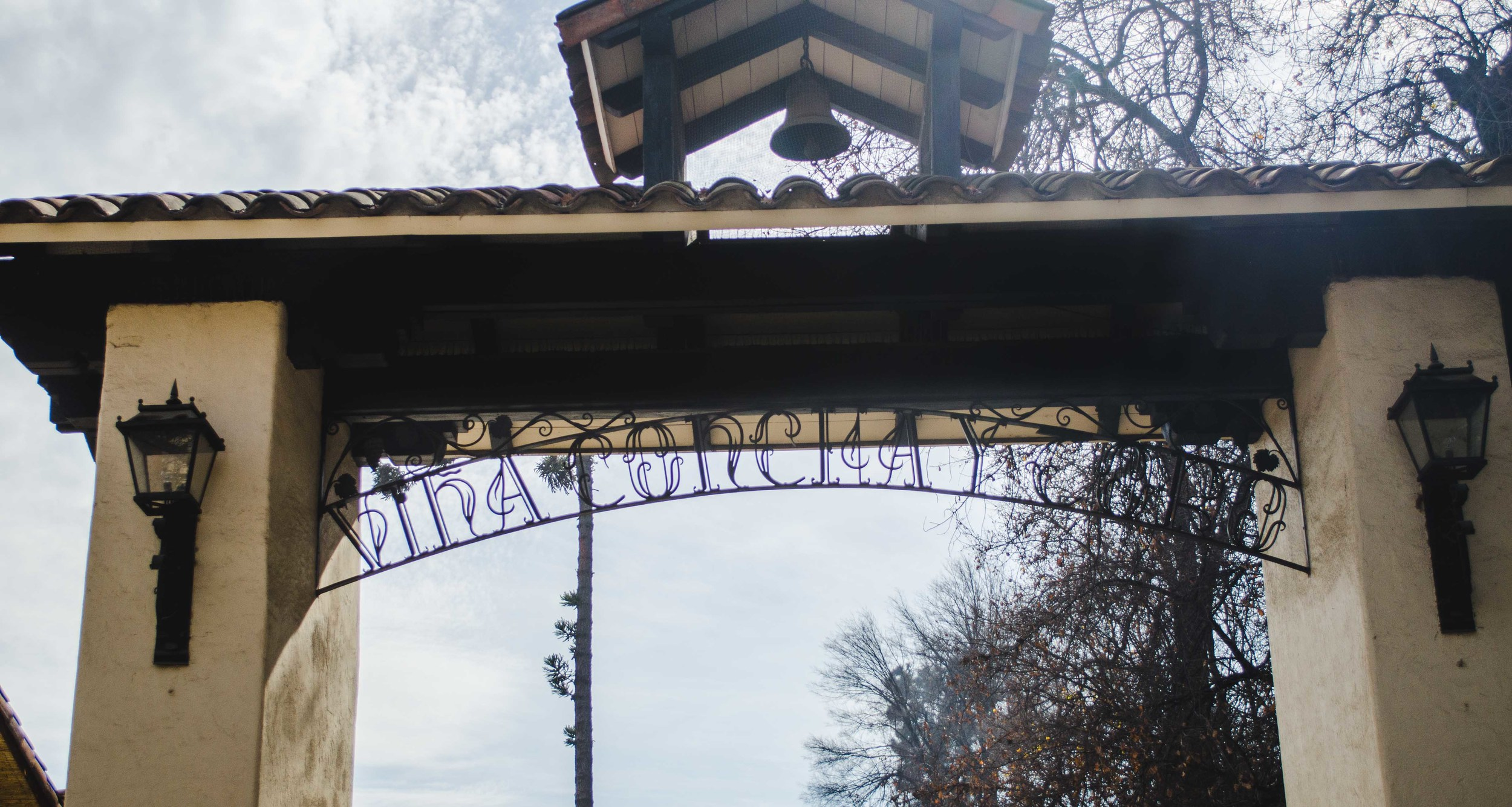 entry gate to the tourist vineyard