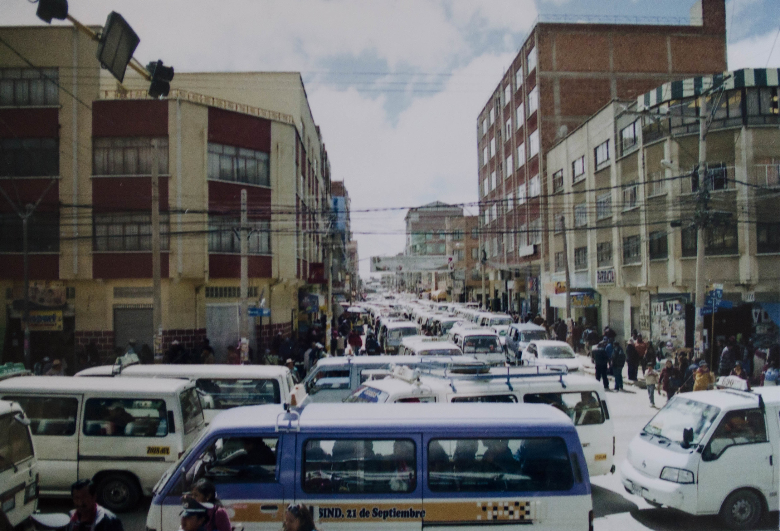 busy intersection in La Paz //february 2015