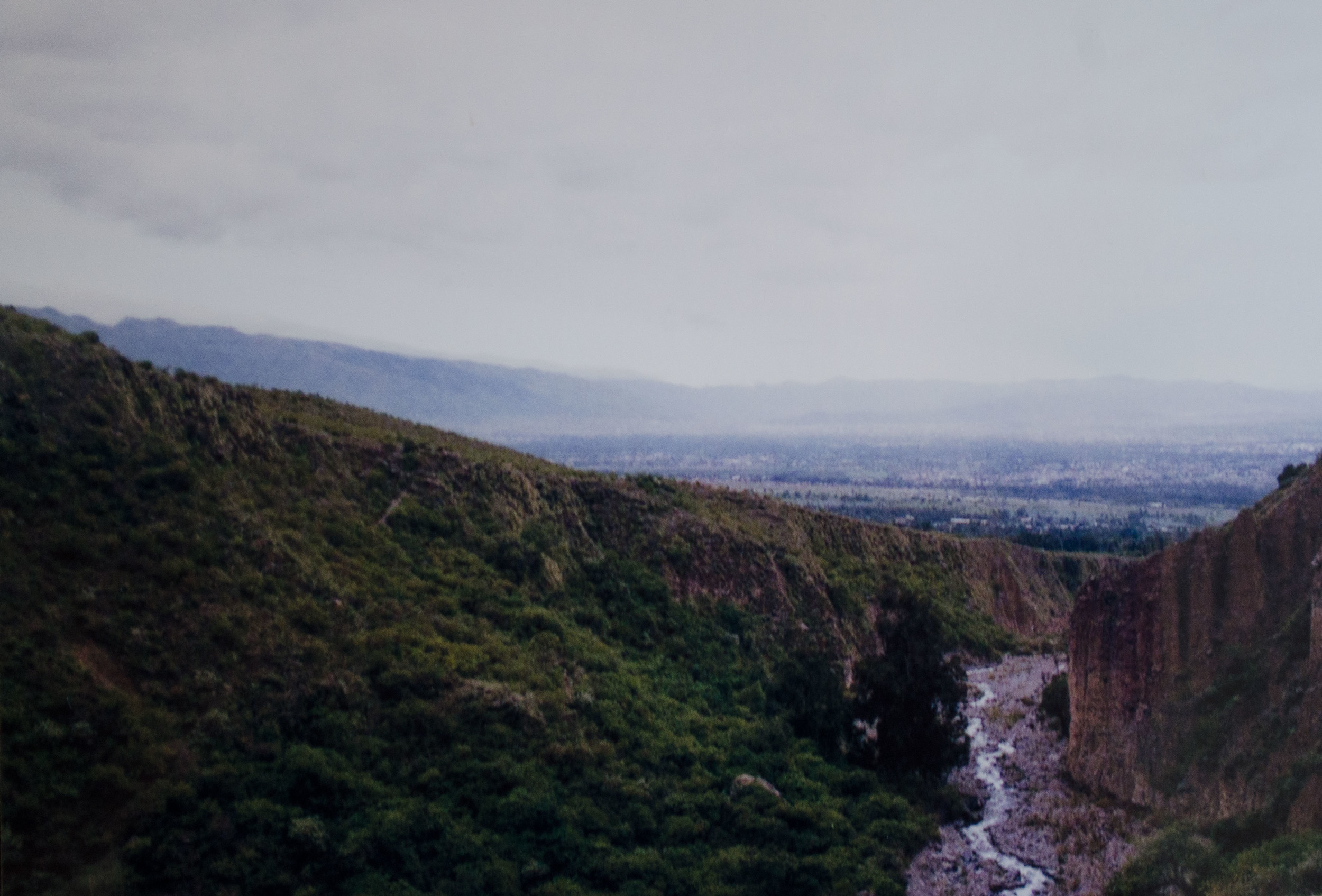 looking towards Cochabamba from a vantage point on the waterfall hiking trail // february 2015