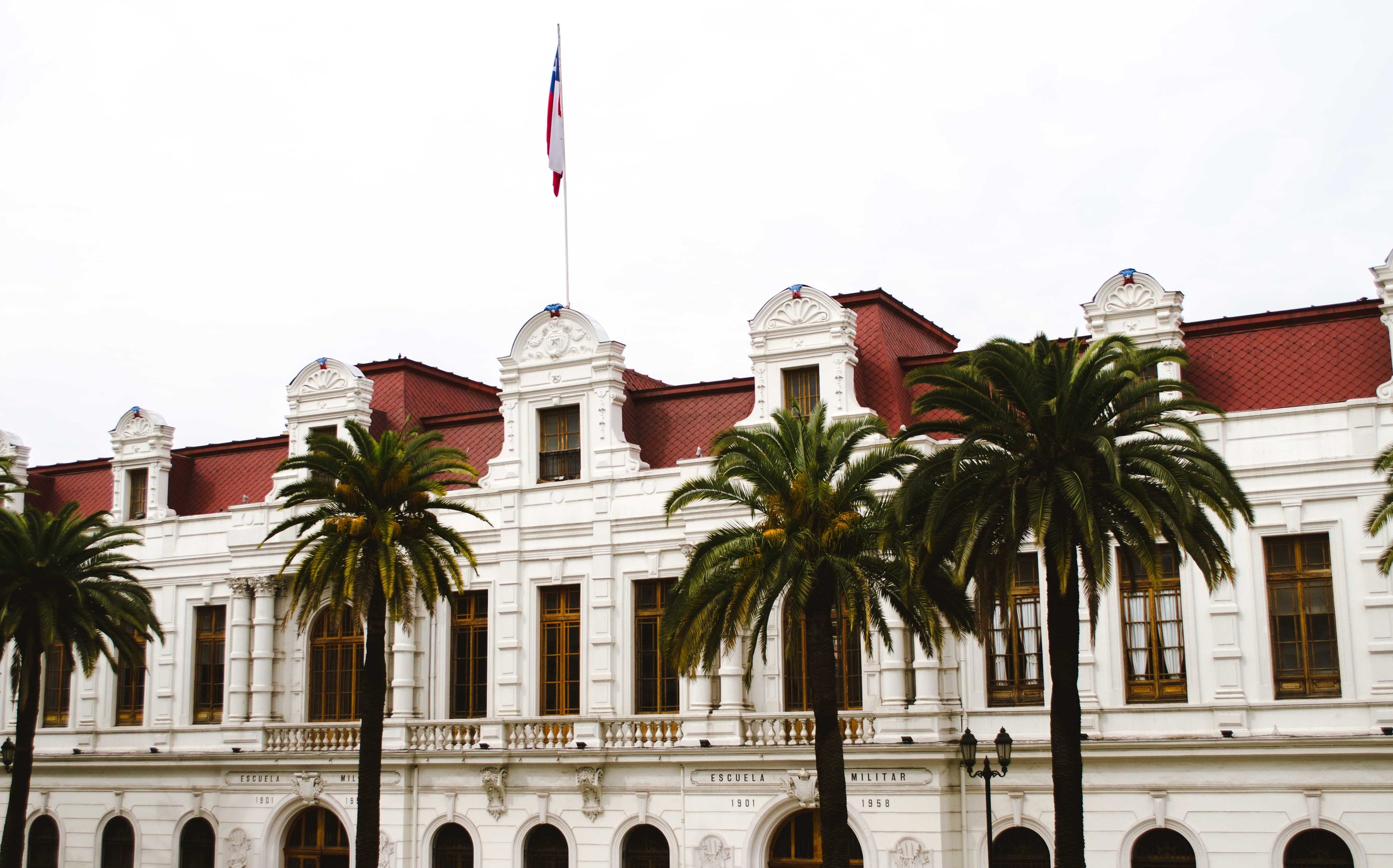 School and military museum in Santiago