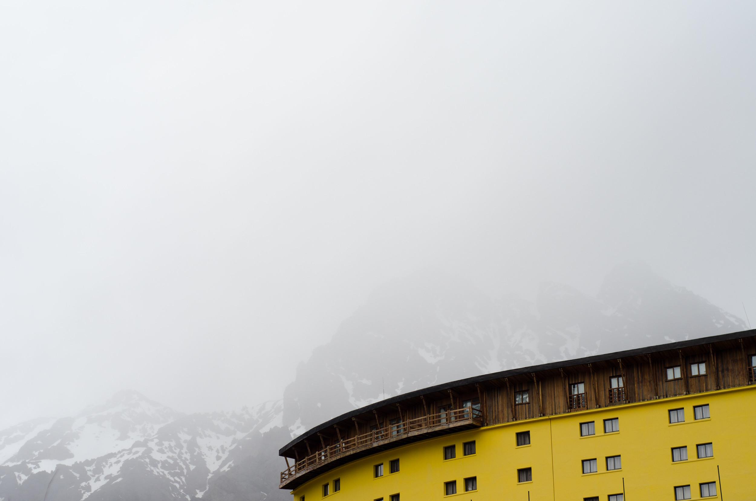 Ski Portillo, a ski resort near the Argentina/Chile border