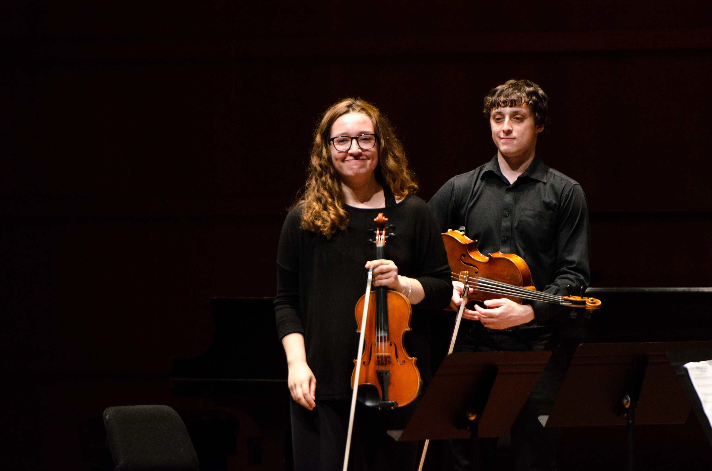 Part of the string quartet after their first piece.