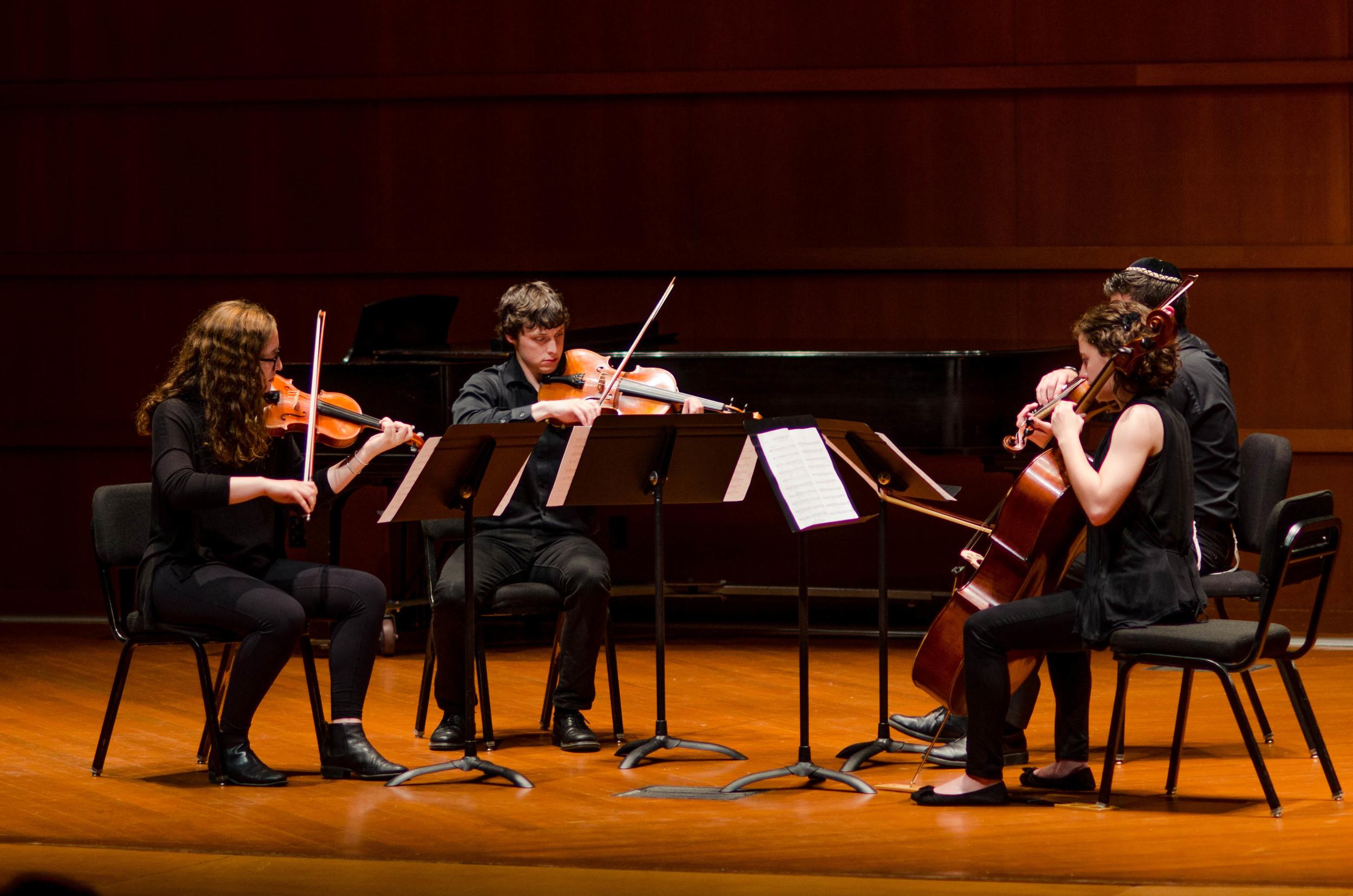 String quartet featuring Emily Hines, Jacob Ziontz, David Kraemer and Julia Marquez.