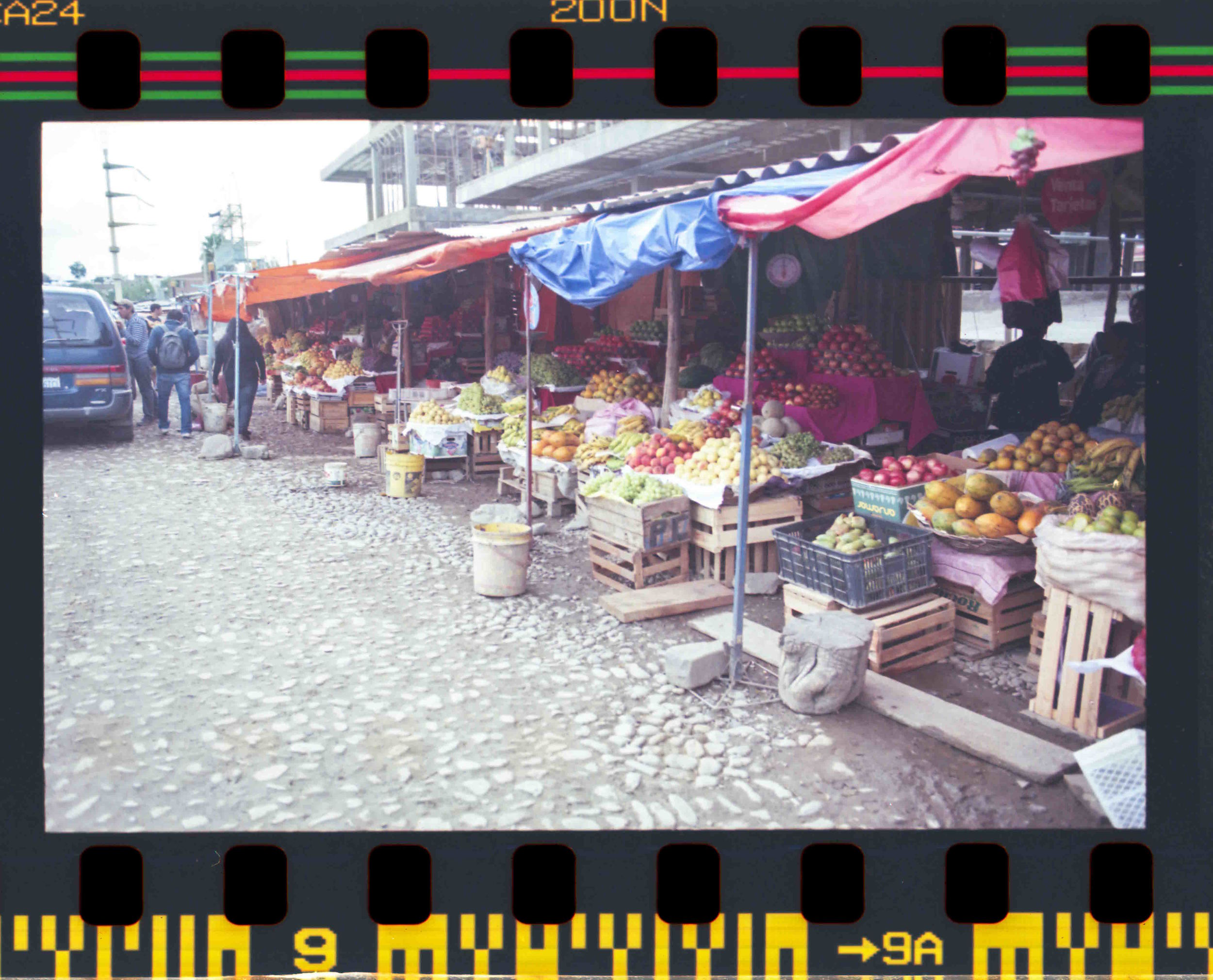 Open-air market in Cochabamba