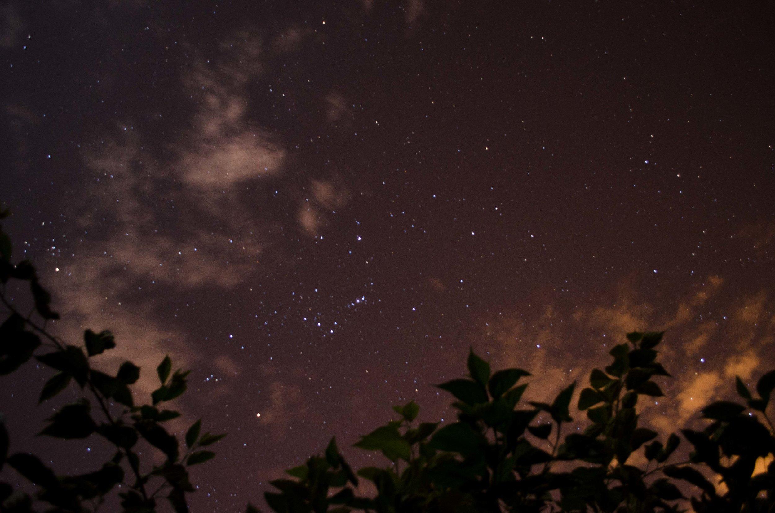 Night sky at the farm