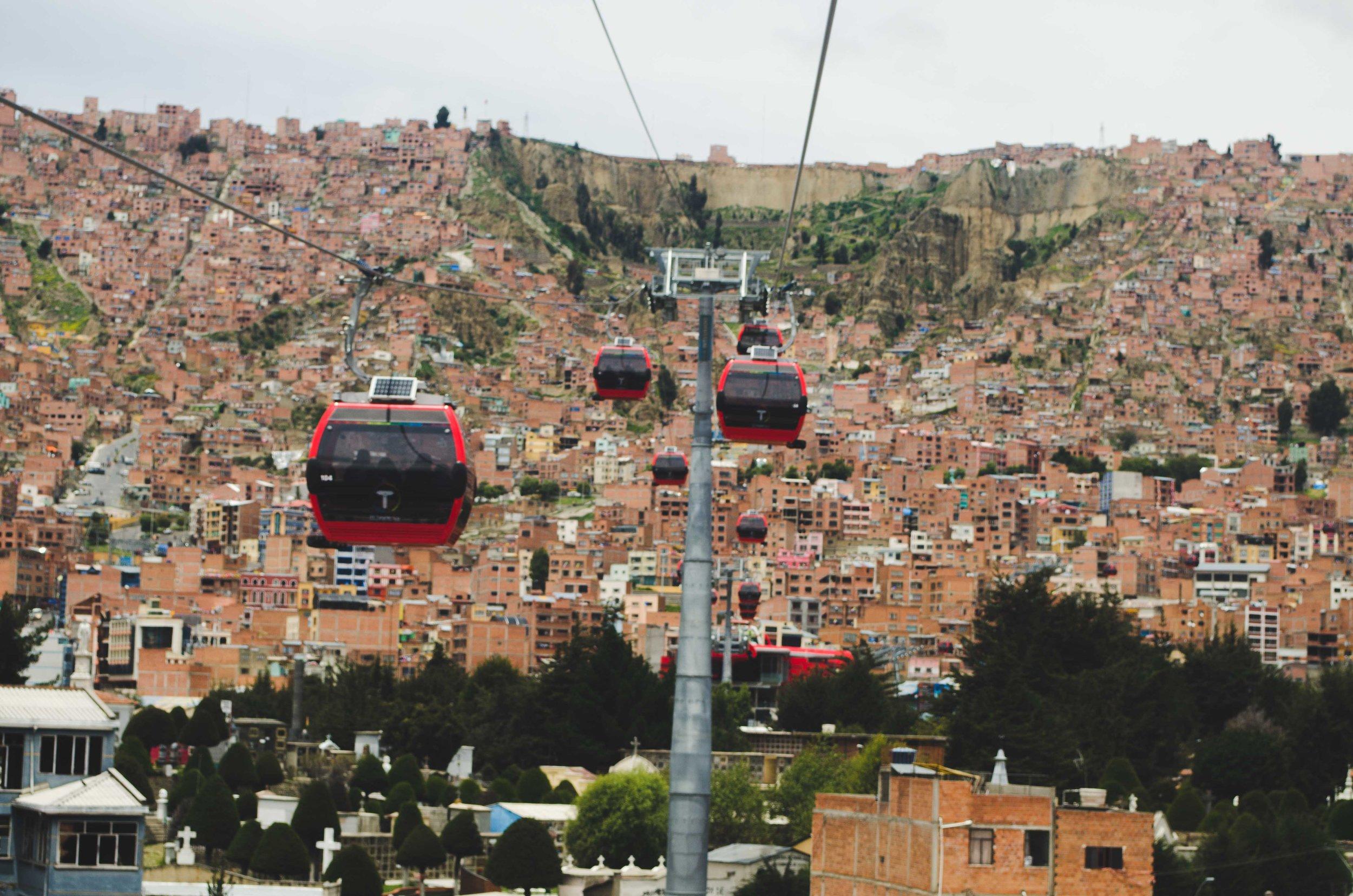 La Paz' cable car system
