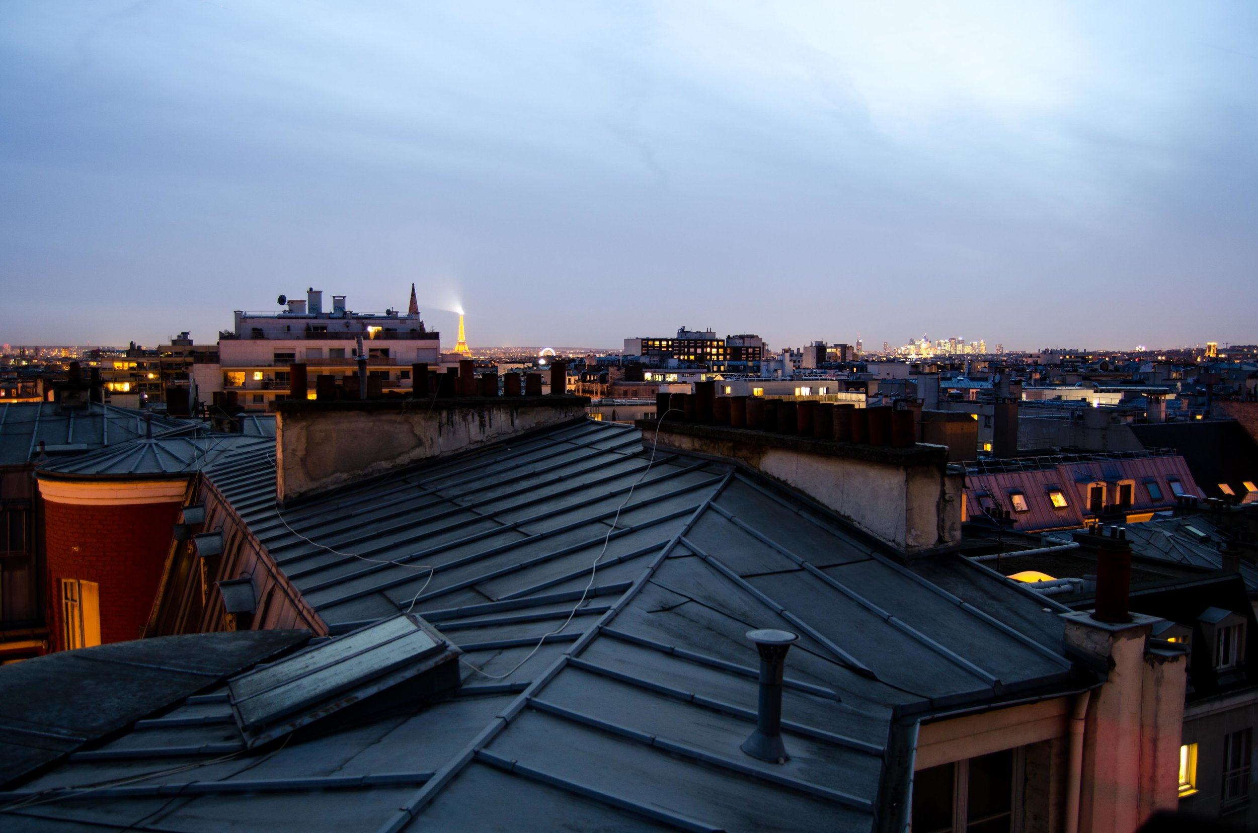 2 march // Paris at night from the terrace