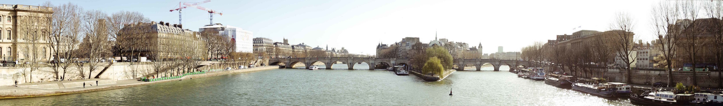 2 march // panorama of La Seine from Les Pont des Arts