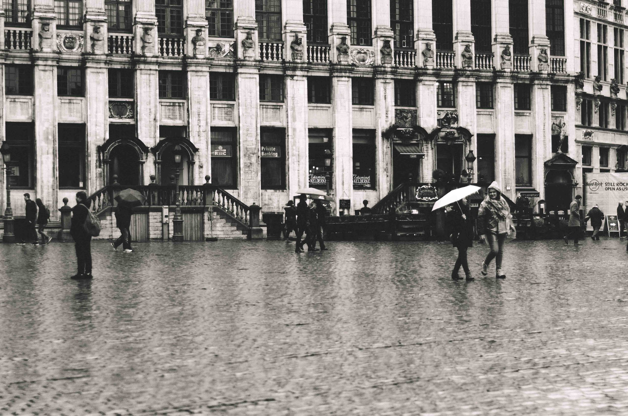 Rain in Grand Place