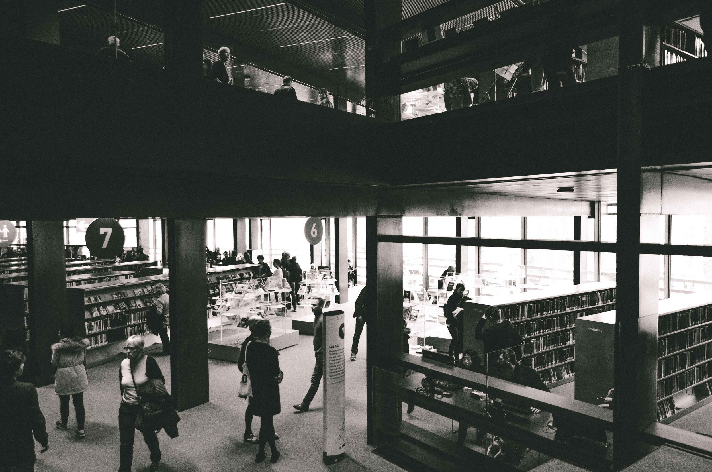 Ghent's new library - De Krook - opened a few days after I arrived