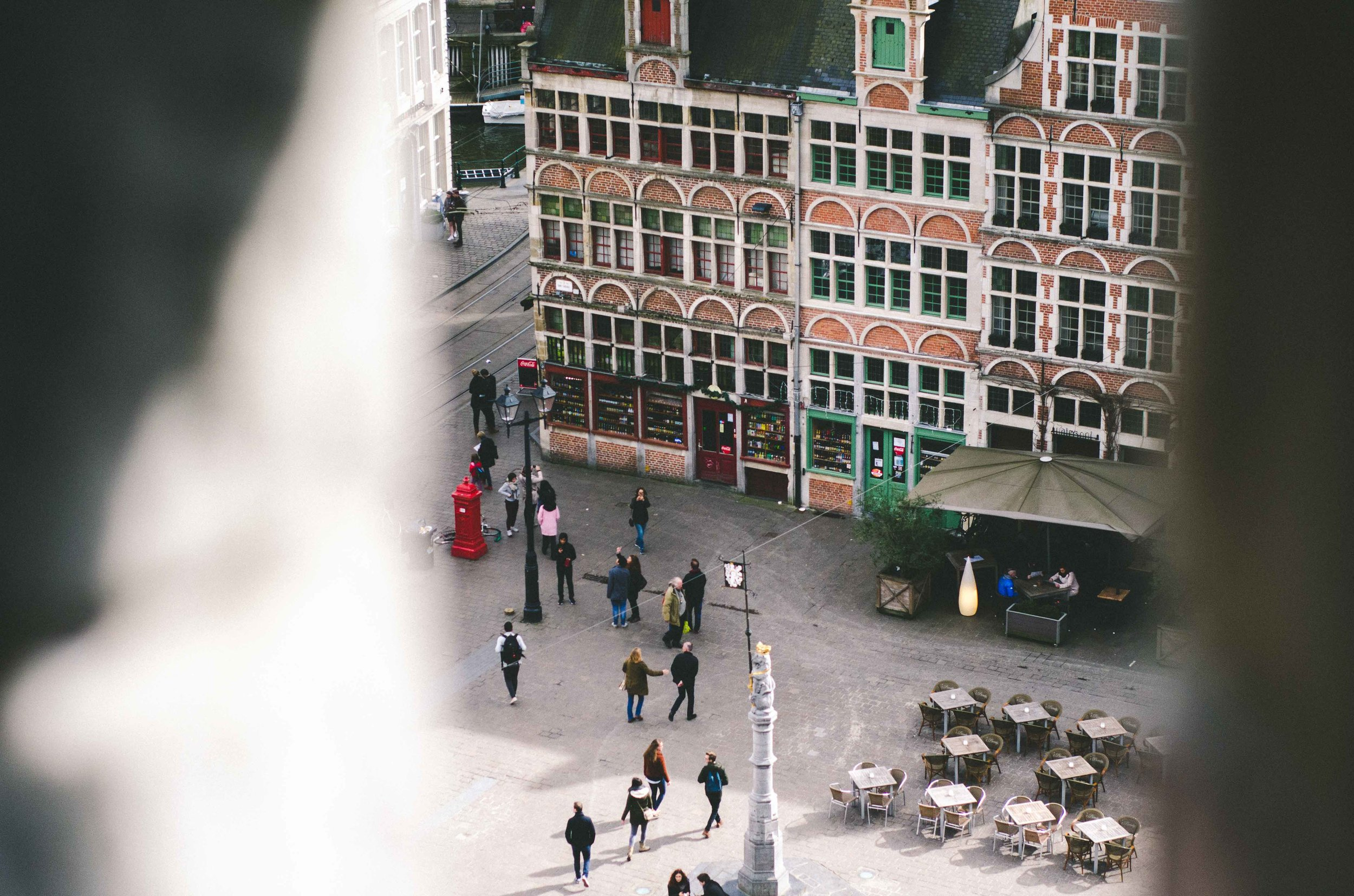 Tiny people // View from Gravensteen
