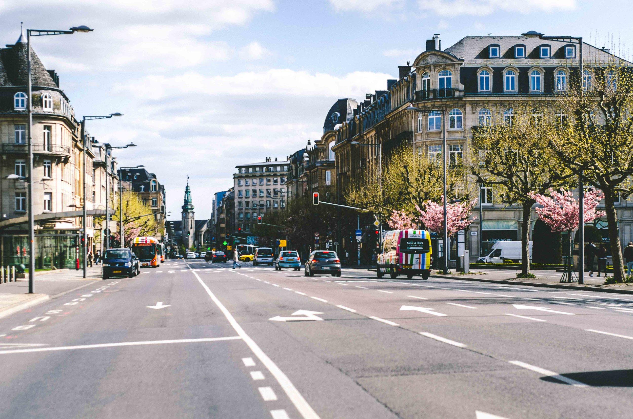 Avenue de la Liberté looking toward the main train station