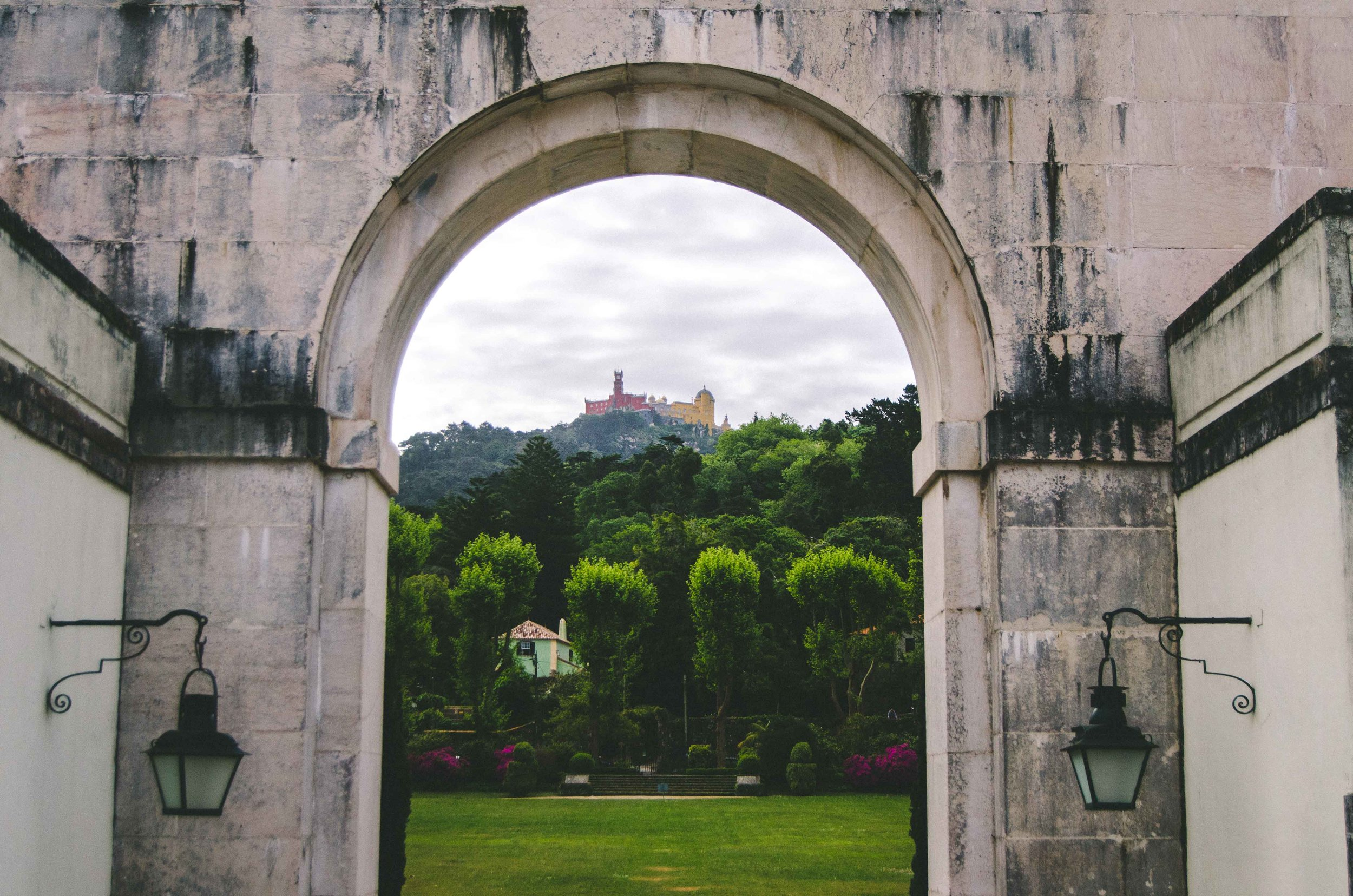 View of  Palácio da Pena  from  Palácio da Seteais
