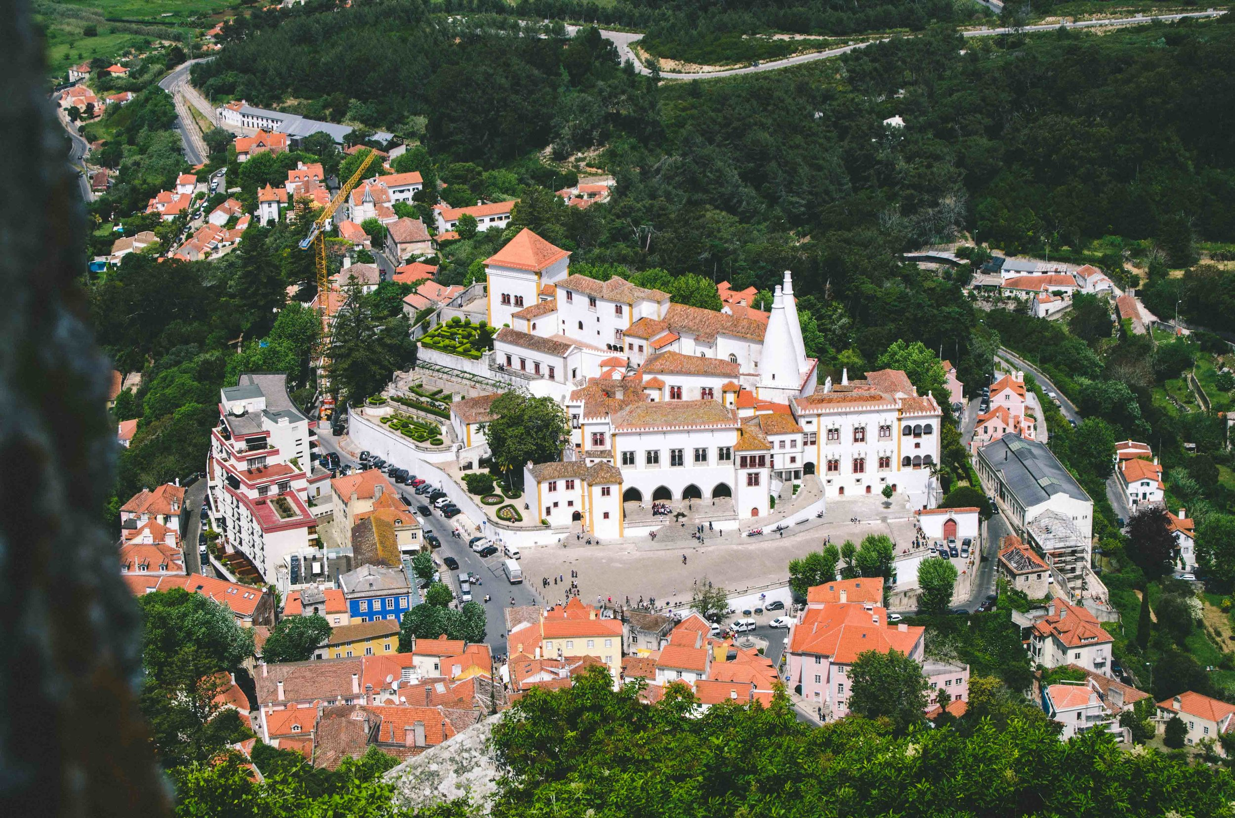 View of the  Palácio Nacional  from  Castelo dos Mouros