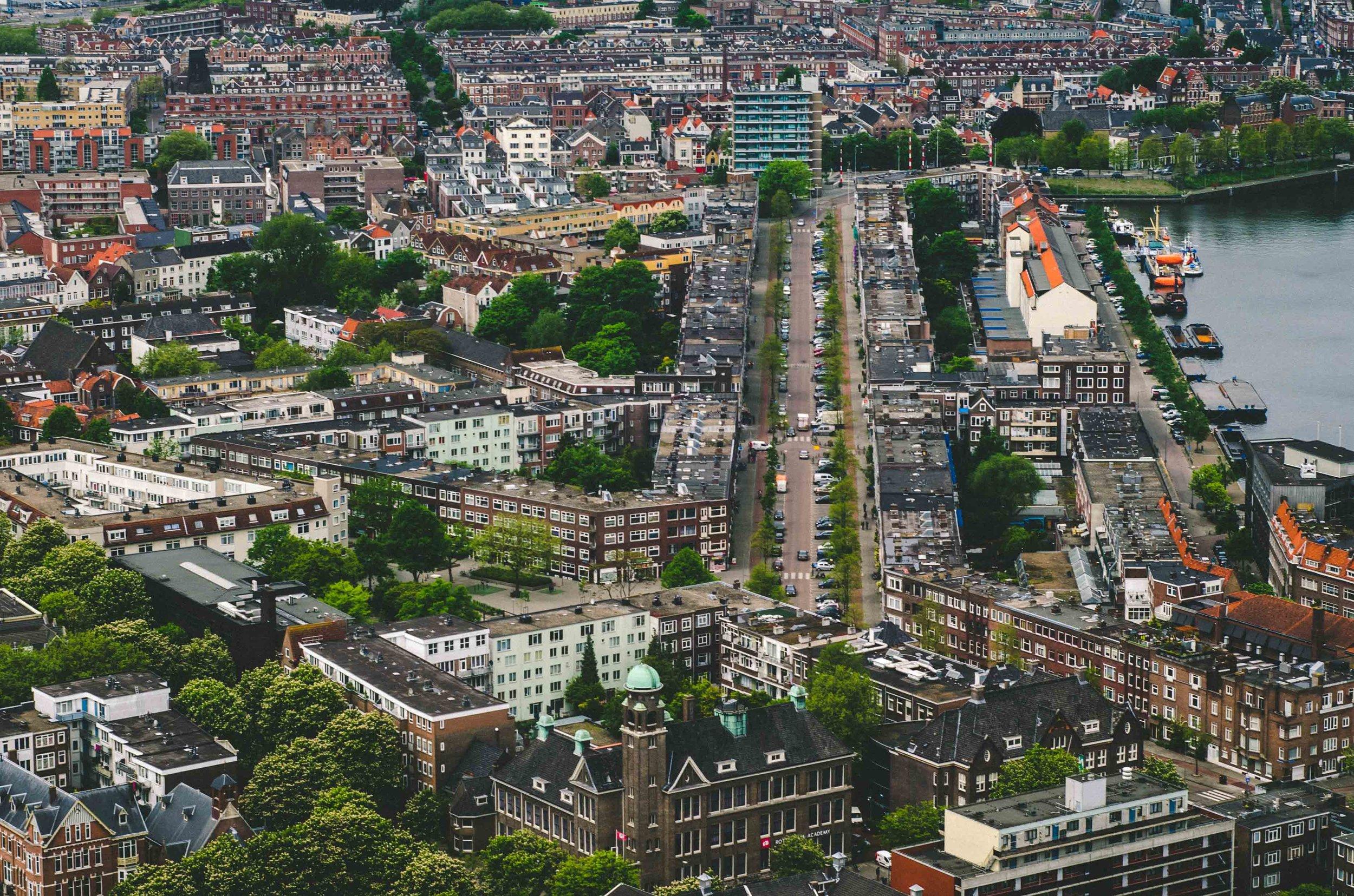 Delfshaven borough from above