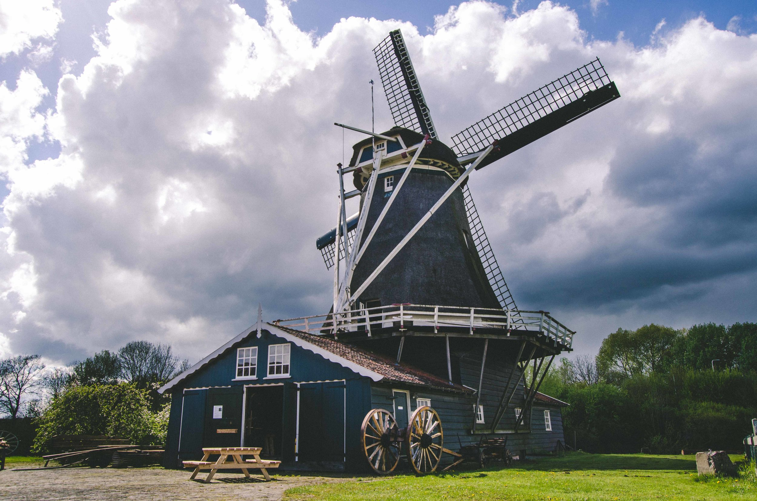 An old wind-powered sawmill that is still functional. A group of volunteers still work there and give tours each week.