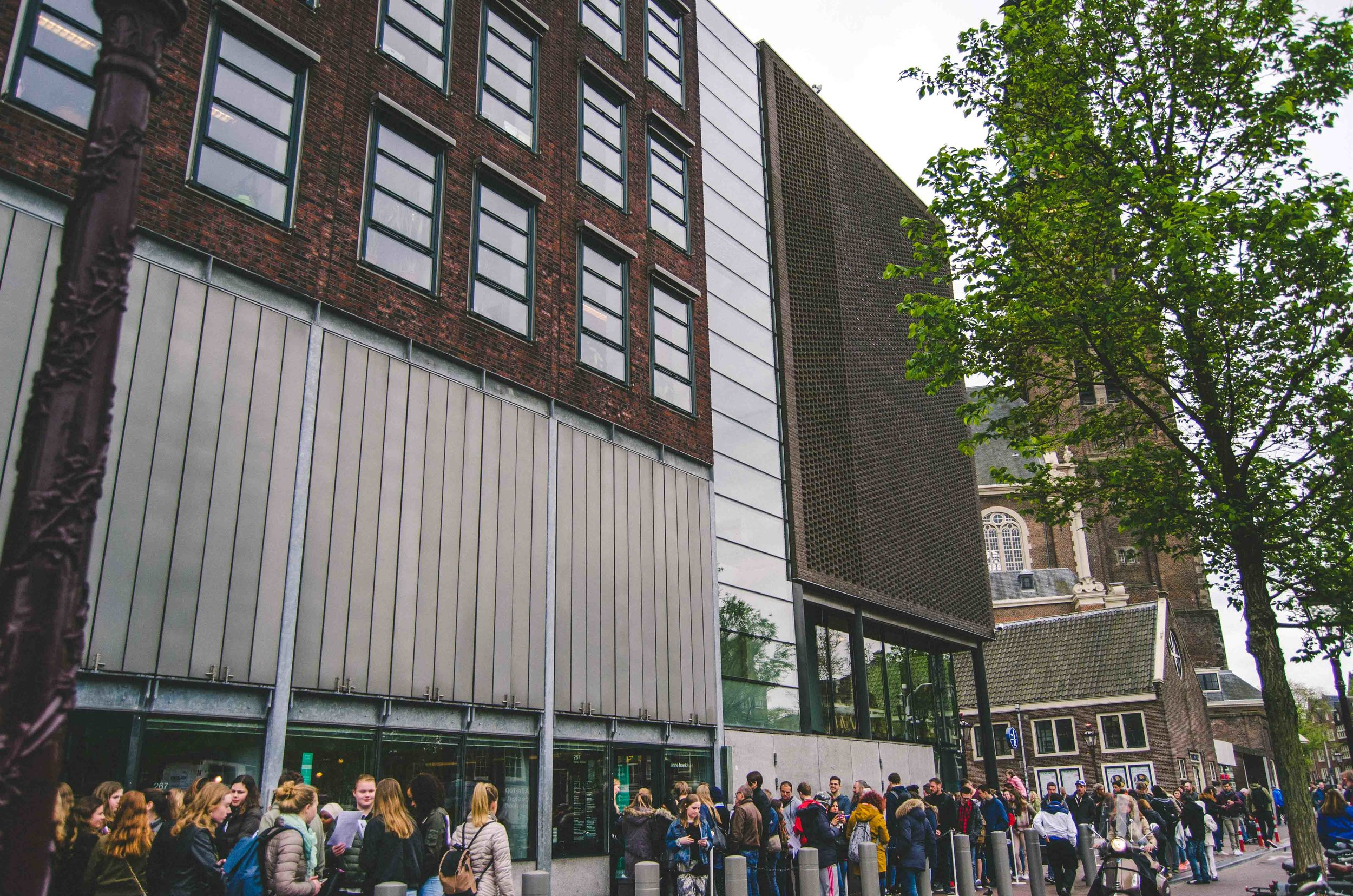 Line to get into Anne Frank's house