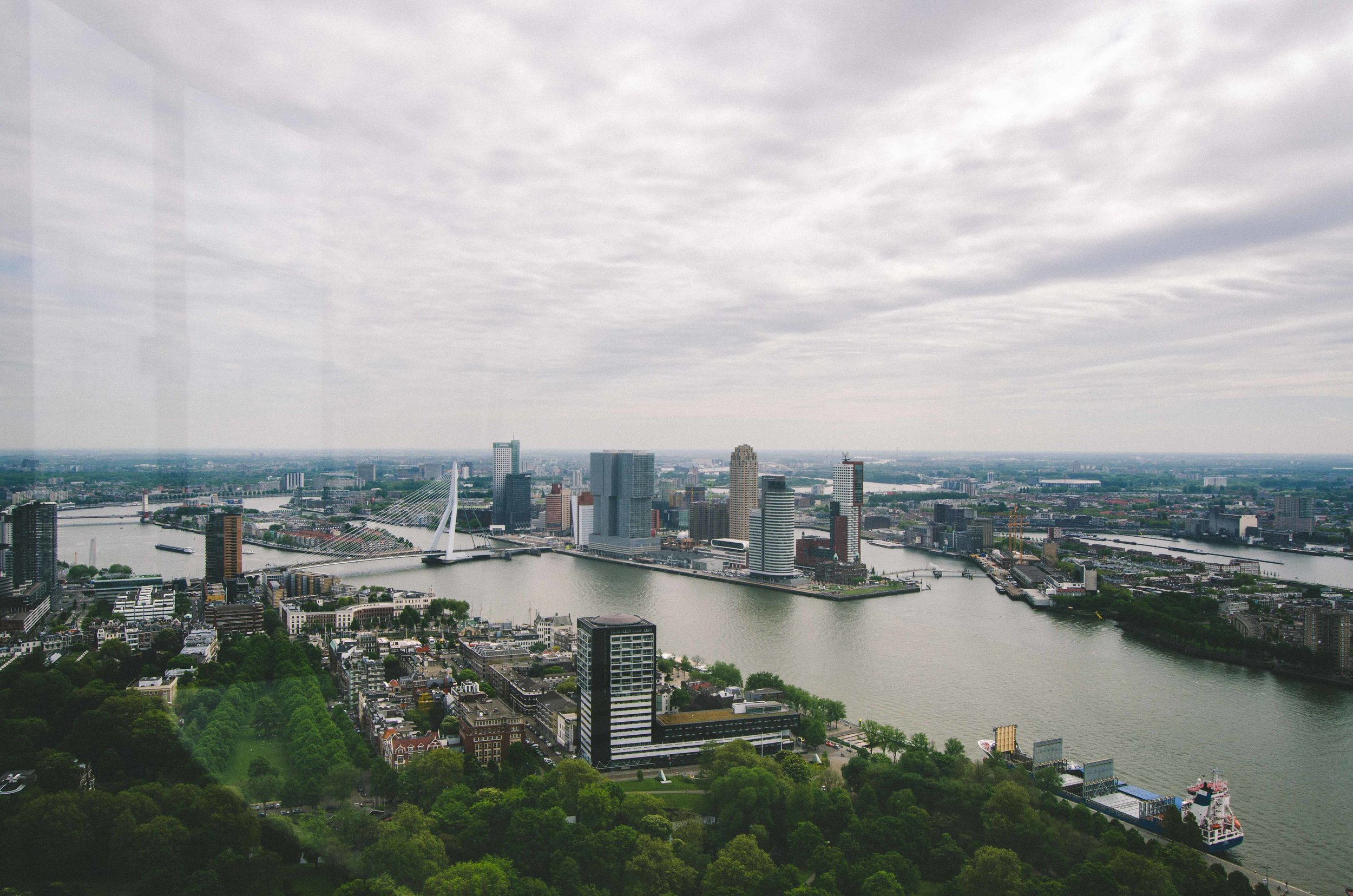 Rotterdam // View east from the Euromast