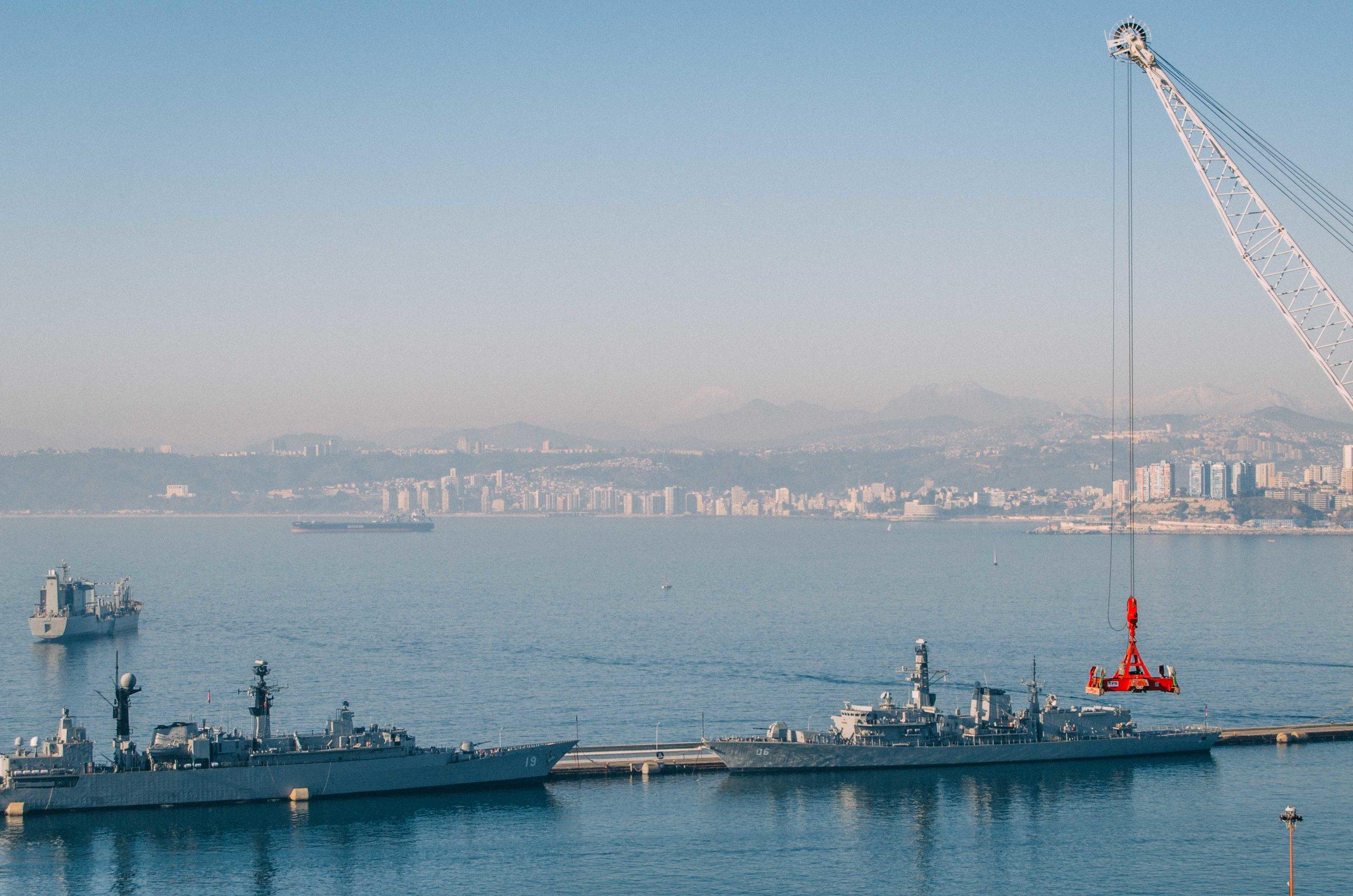 Across the port is either Reñaca or Concón