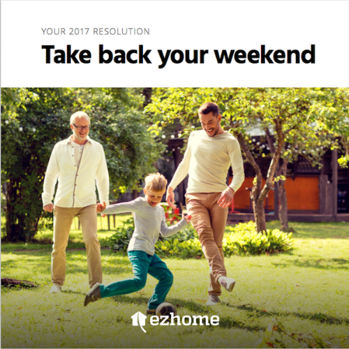 ezhome  General brochure for tech-enabled home and garden services start-up.