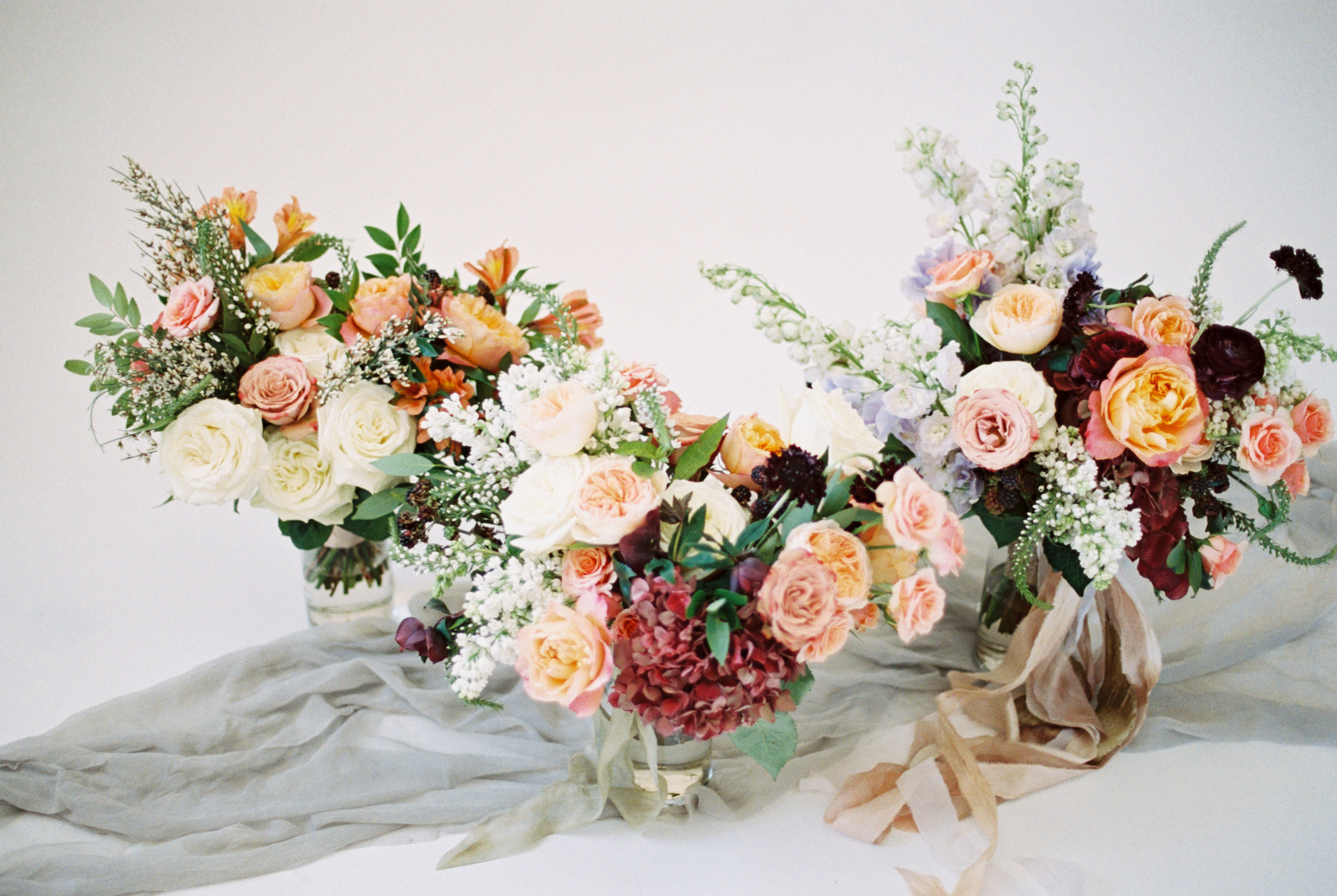 Three bouquets at three price points with The Styled Soiree, Emma Lea Flora, and Sara Lynn Photo