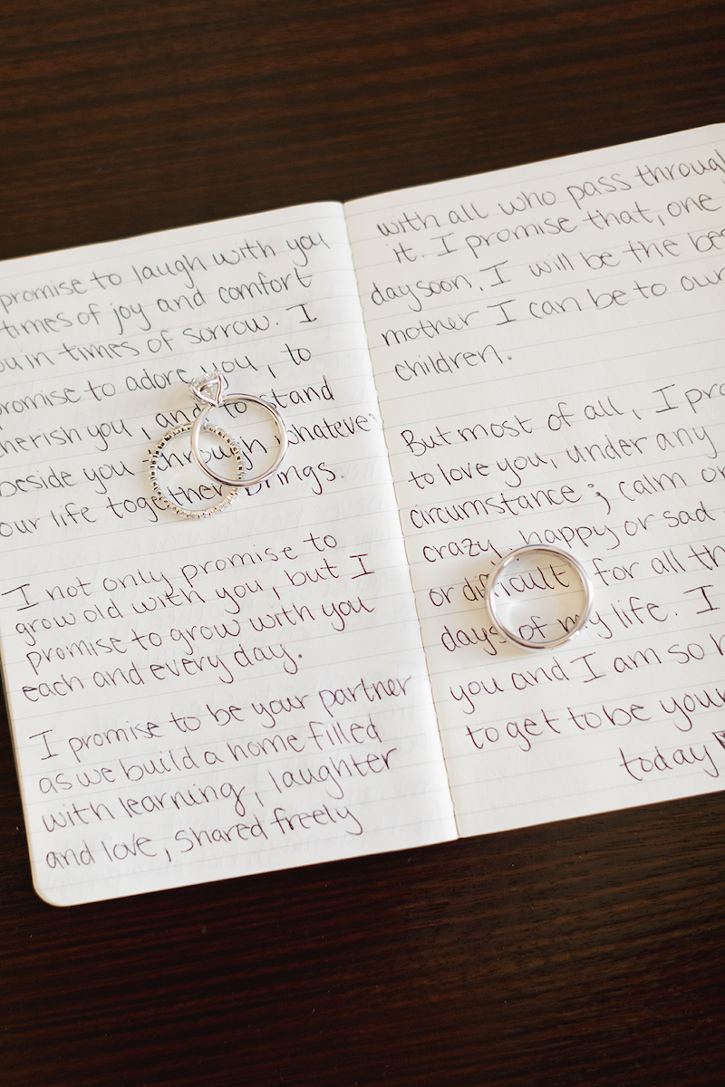 How to style your ring using your wedding vows by The Styled Soiree, photo by  Jackie Cooper Photography