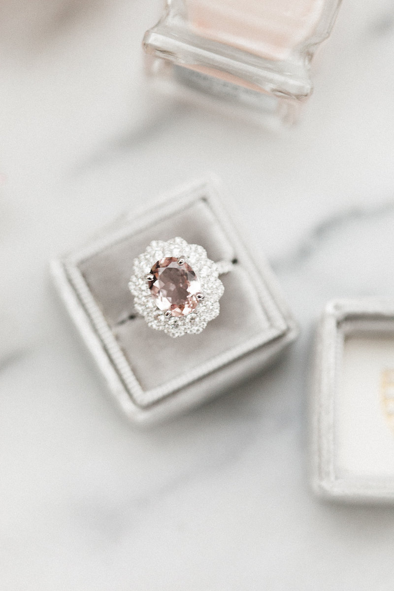 Dreamy, romantic wedding ring inspiration from The Styled Soiree and Sara Lynn Photo