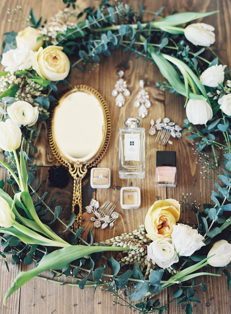 A beautiful collage of wedding details. Styling by  Emma Lea Floral ,  Carrie King Photography , The Styled Soiree. Photo by Carrie King Photography
