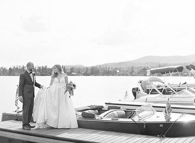 Happy belated anniversary to Audra and Bryan! They had such a special wedding in Grand Lake that included a spin in a vintage boat! And while I love the photos of them on the boat with epic views behind them, this photo is my favorite. I love this one because it is a tiny snippet of a moment. They are totally focused on each other and you can literally feel the love radiating from this shot. After all, the reason we all do this is for moments like these! . Photo by @saracoronaphoto  Beauty @lianakathrynmakeup and @chelseagarciabeauty  Floral design @mjmdesignsllc  Other vendors involved: @handsomelovecalligraphy @samkeithcakes #blowthevaultband #grandlakelodge . . . #thatsdarling #pursuepretty #Flashesofdelight #darlingmovement #Calledtobecreative #soloverly #ohwowyes #dowhatyoulove #designisinthedetails #coloradowedding #coloradobride #coloradoweddingplanner #mountainwedding #mountainweddingplanner #denverwedding #denverweddingplanner #realwedding #grandlakewedding #grandlakelodgewedding #lakewedding #cofineartweddings