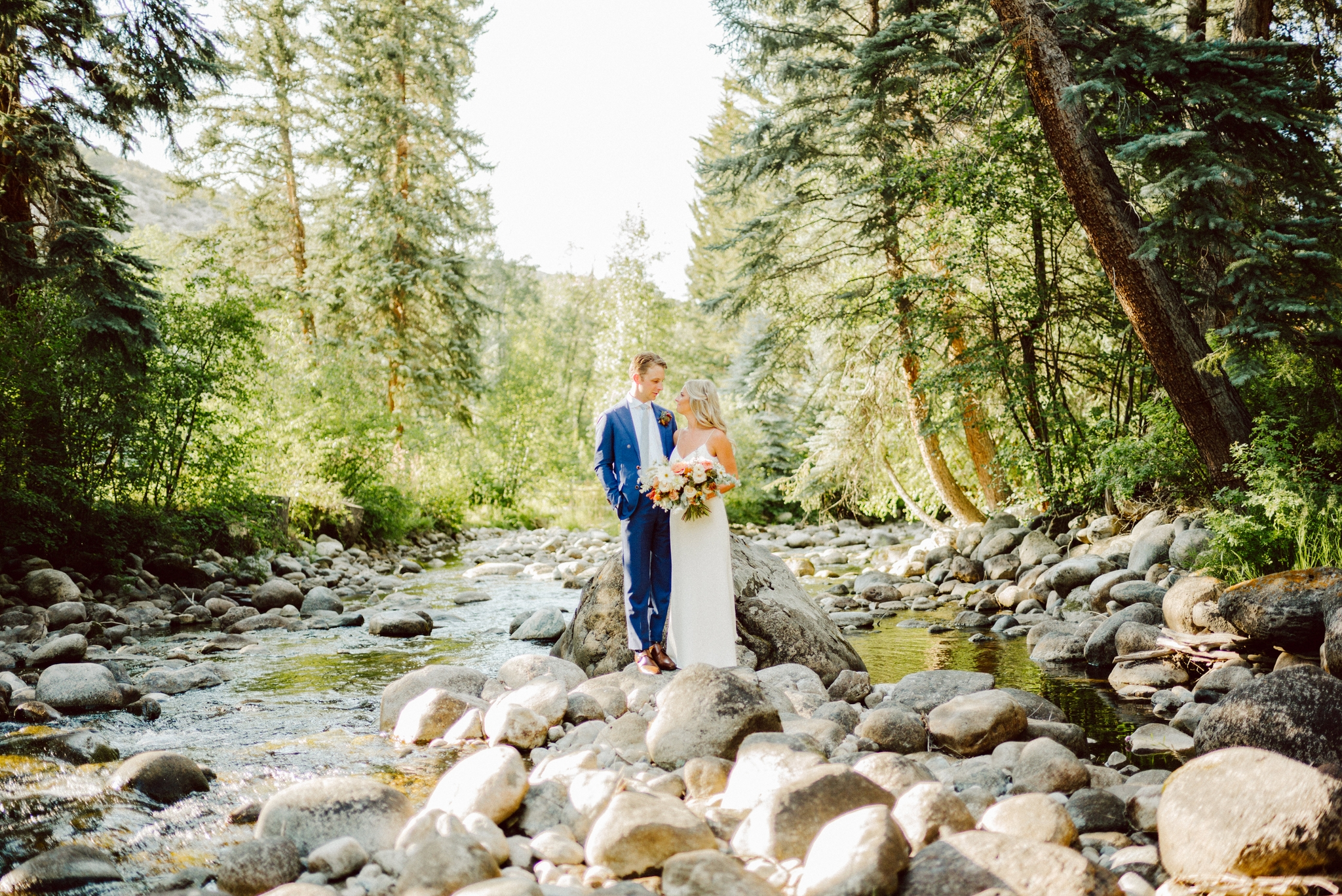 Erin and Jordan had a wedding at a family estate just outside Vail, Colorado with sailcloth tents, Topo Chico, and a live band!