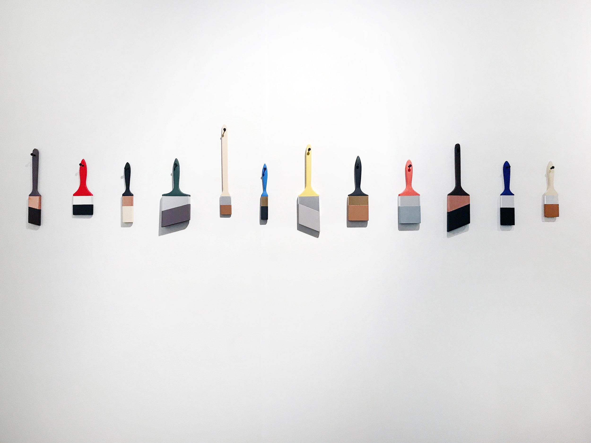 Brush Line #6, Acrylic on wood, 2017
