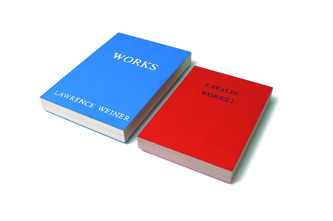 Works, Works 1, Twice,  collaboration with Micah Lexier, replicated books, acrylic on wood, 2008