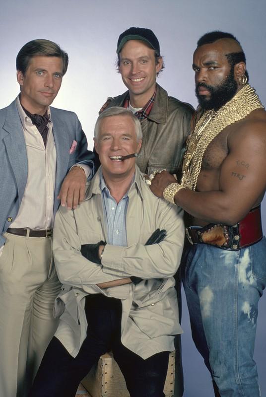 """Dirk Benedict (left) in """"The A-Team"""""""
