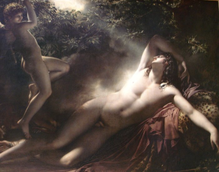 "Anne-Louis Girodet's ""Le Sommeil d'Endymion"" (1791, oil on linen, Musée Girodet), part of ""Masculin/Masculin"" at the Musée d'Orsay in Paris through Jan. 2."