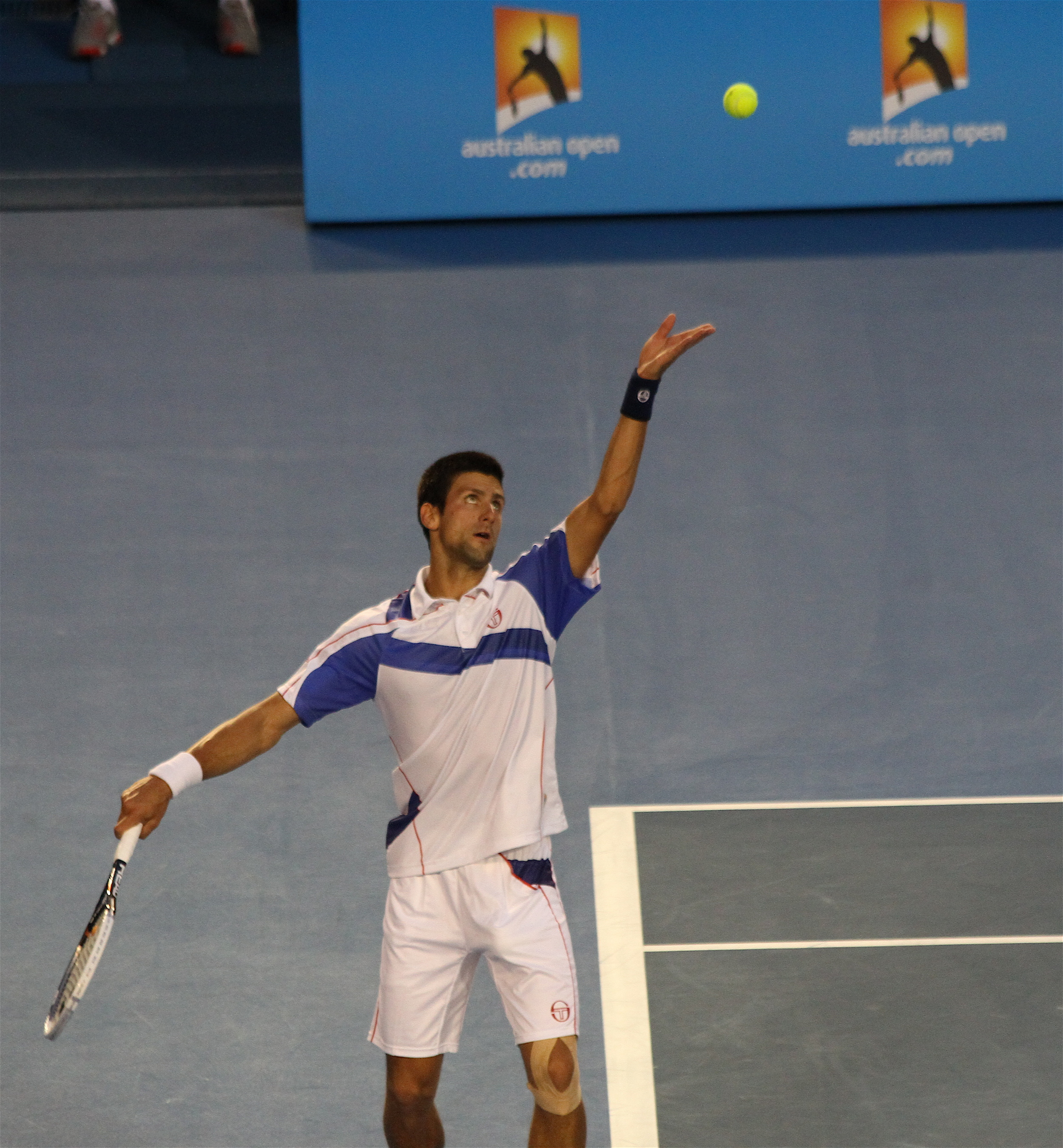 Novak Djokovic at the Australian Open in 2011. Will 2014 be another big year for Nole? Photograph by Christopher Johnson.
