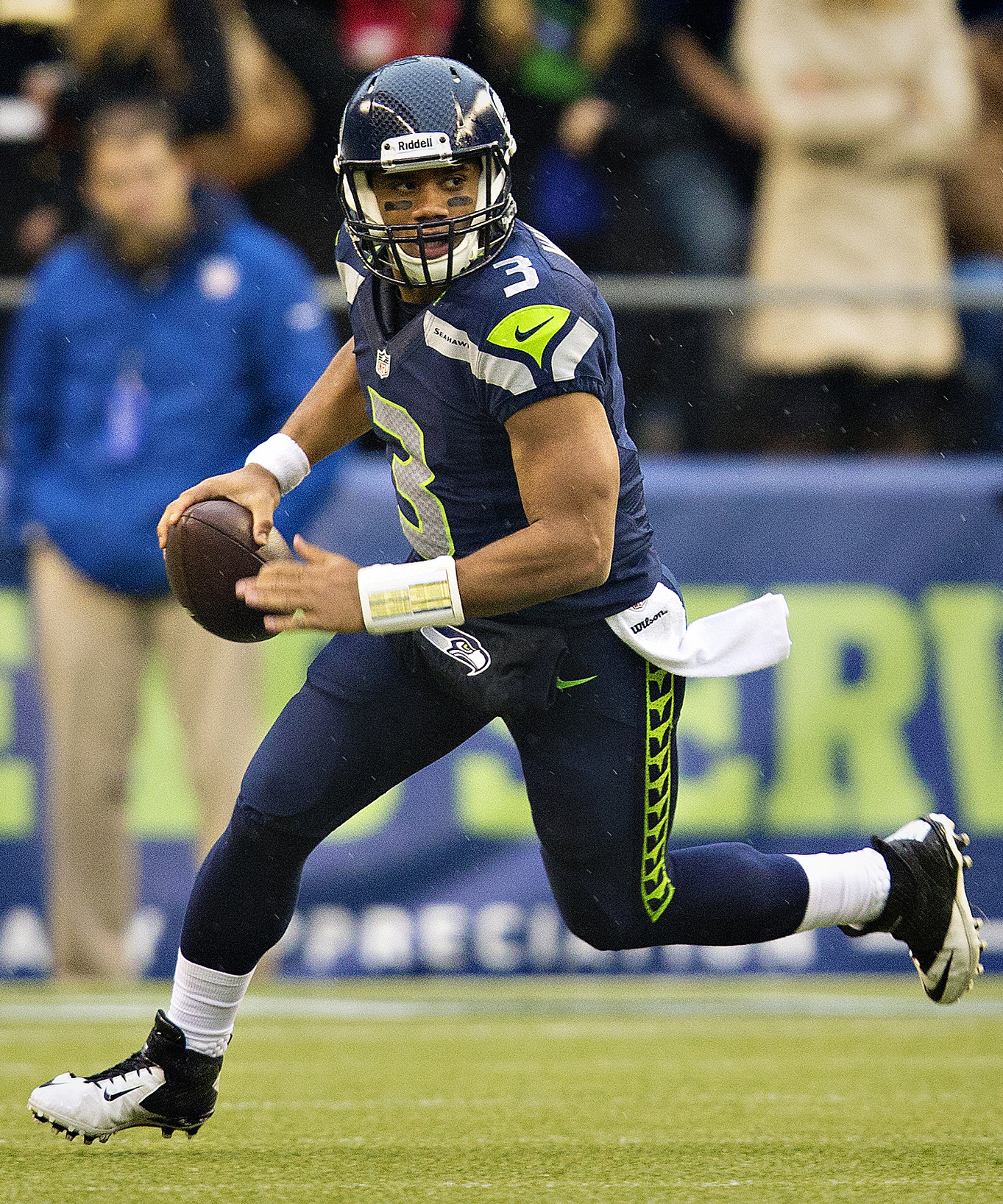 Russell Wilson in action against the New York Jets Nov. 11, 2012. Is this his moment? Photograph by Larry Maurer.
