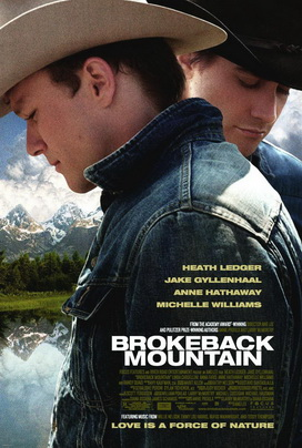 """The iconic """"Brokeback Mountain"""" movie poster may have been inspired by the poster for """"Titanic"""" and was in turn the inspiration for a New Yorker parody cover featuring President George W. Bush and Vice President Dick Cheney."""