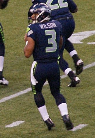 Russell Wilson, the face and form of football's present – and future.