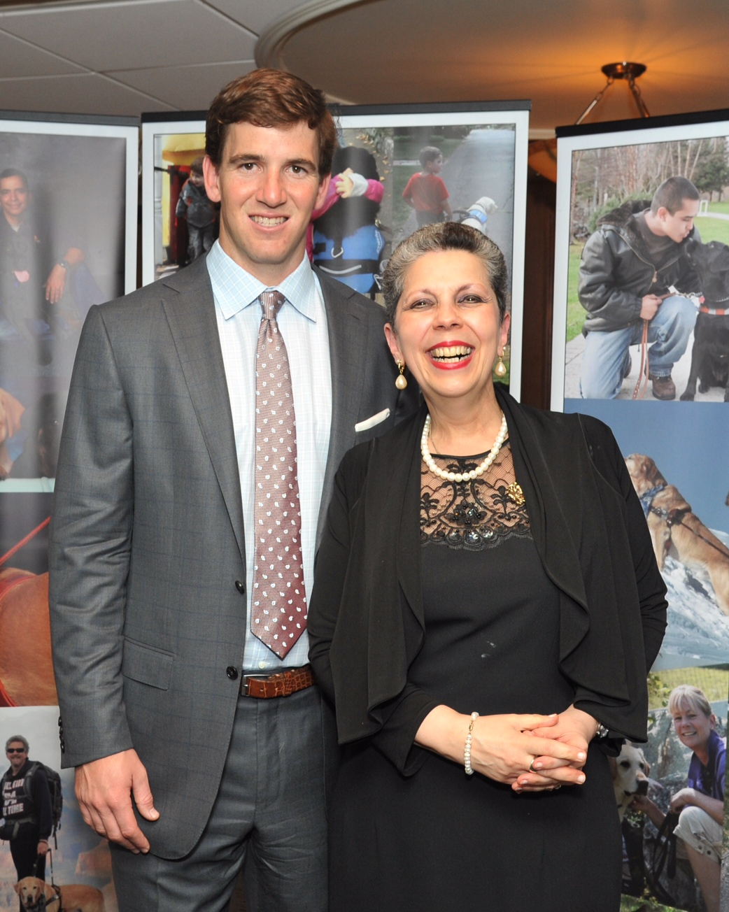 Eli Manning was kind enough to pose for pictures, including some with Yours Truly. Photograph byJohn Vecchiola.