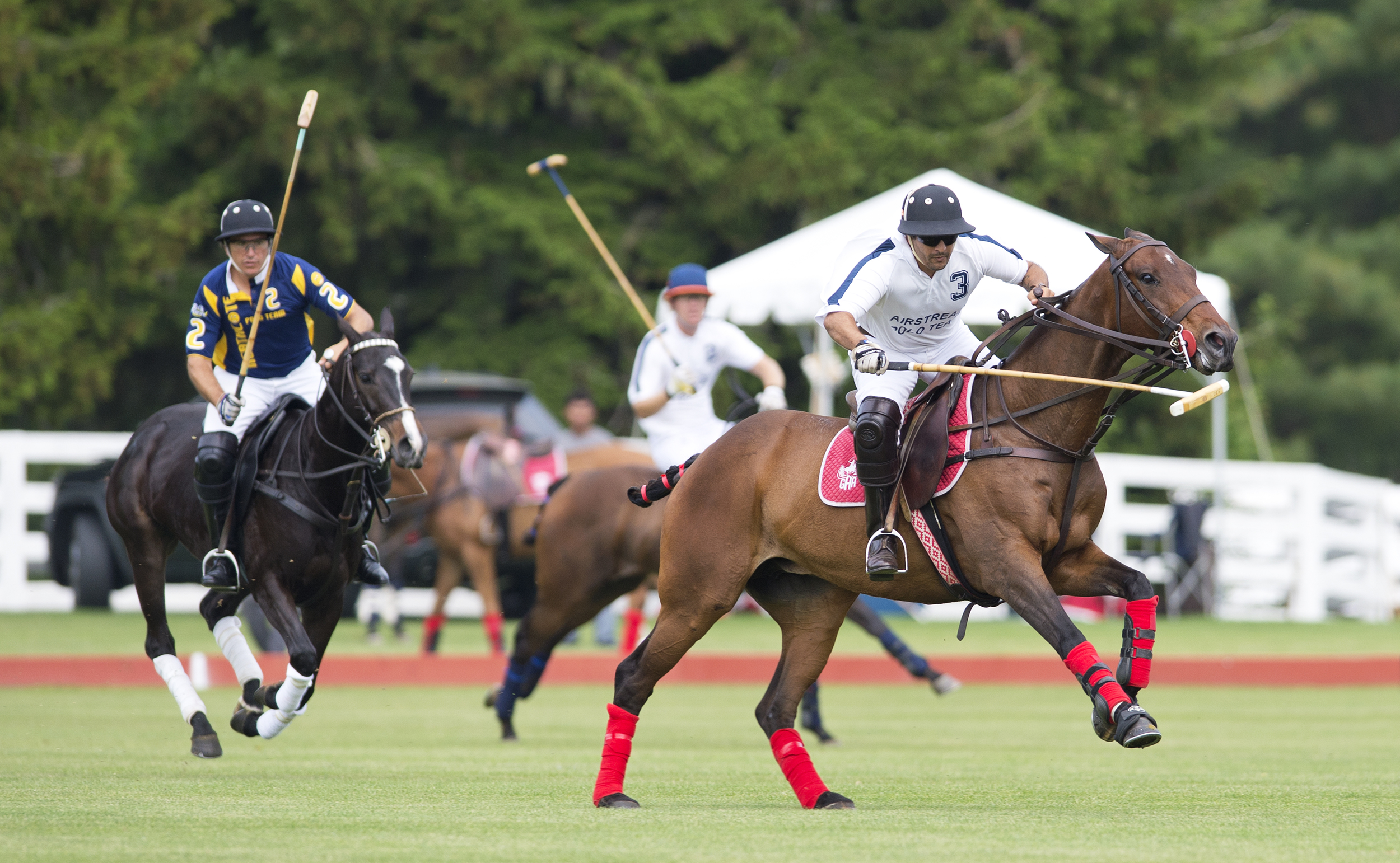 Action resumes Sunday, June 1 at the Greenwich Polo Club.  Photograph by Dan Burns. Courtesy the club
