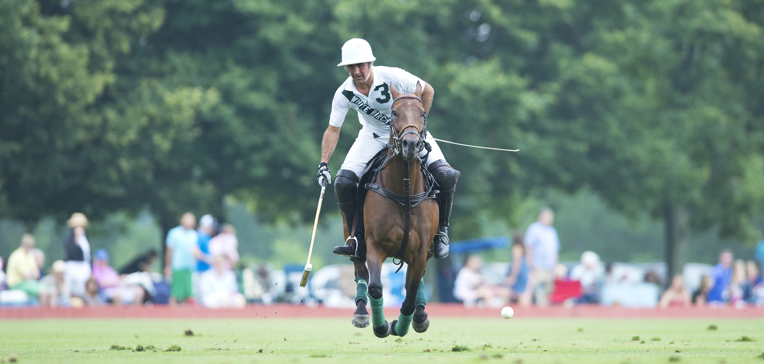 Polo great Mariano Aguerre in action. He'll be playing Sunday, June 1 for the White Birch home team at the Greenwich Polo Club. Photograph by Dan Burns. Courtesy the club