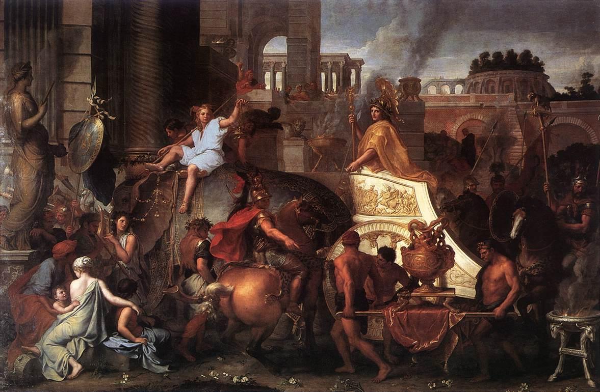 "Charles Le Brun's ""Entry of Alexander Into Babylon"" (1664, oil). Musée du Louvre."