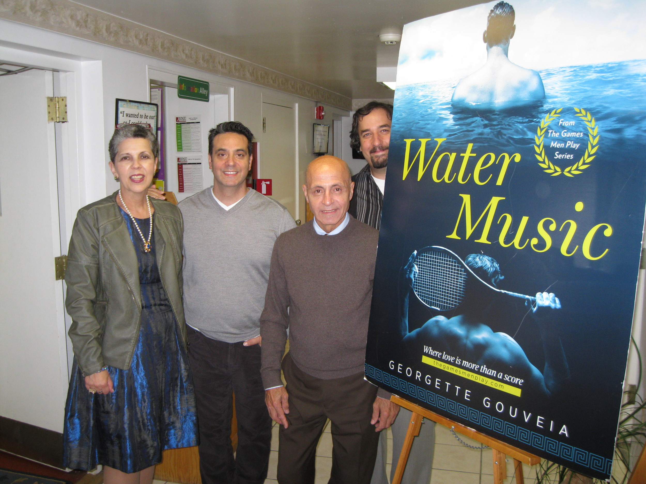 With Darren Scala, Nick Zullo, and Scott S. Havelka, The Loft's interim executive director