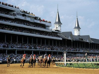 The Kentucky Derby, whose 141  st  winner, American Pharoah, is the first horse to win from the dreaded 16th pole. Courtesy kentuckytourism.org.