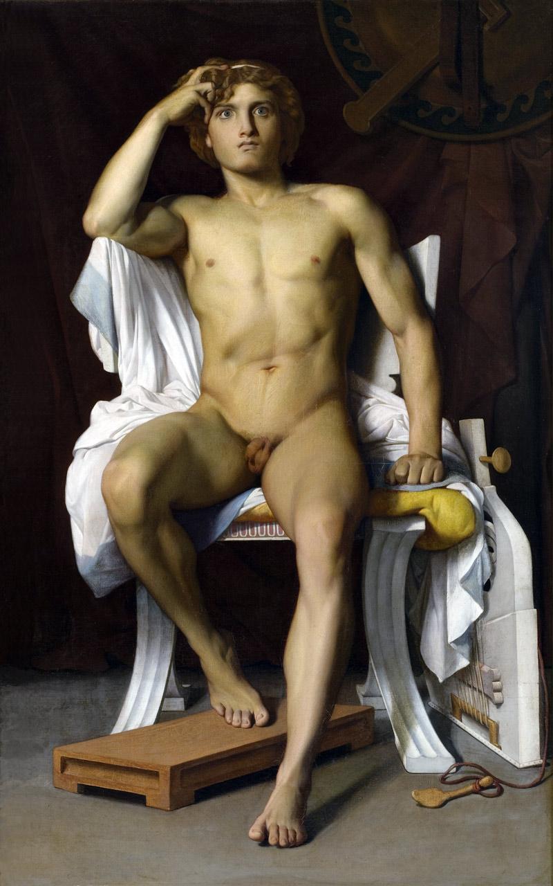 """François-Léon Benouville's """"The Wrath of Achilles"""" (1847), oil on canvas."""