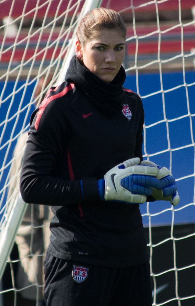 Hope Solo is among the members of the U.S. women's soccer team accusing the U.S. Soccer Federation of pay discrimination.