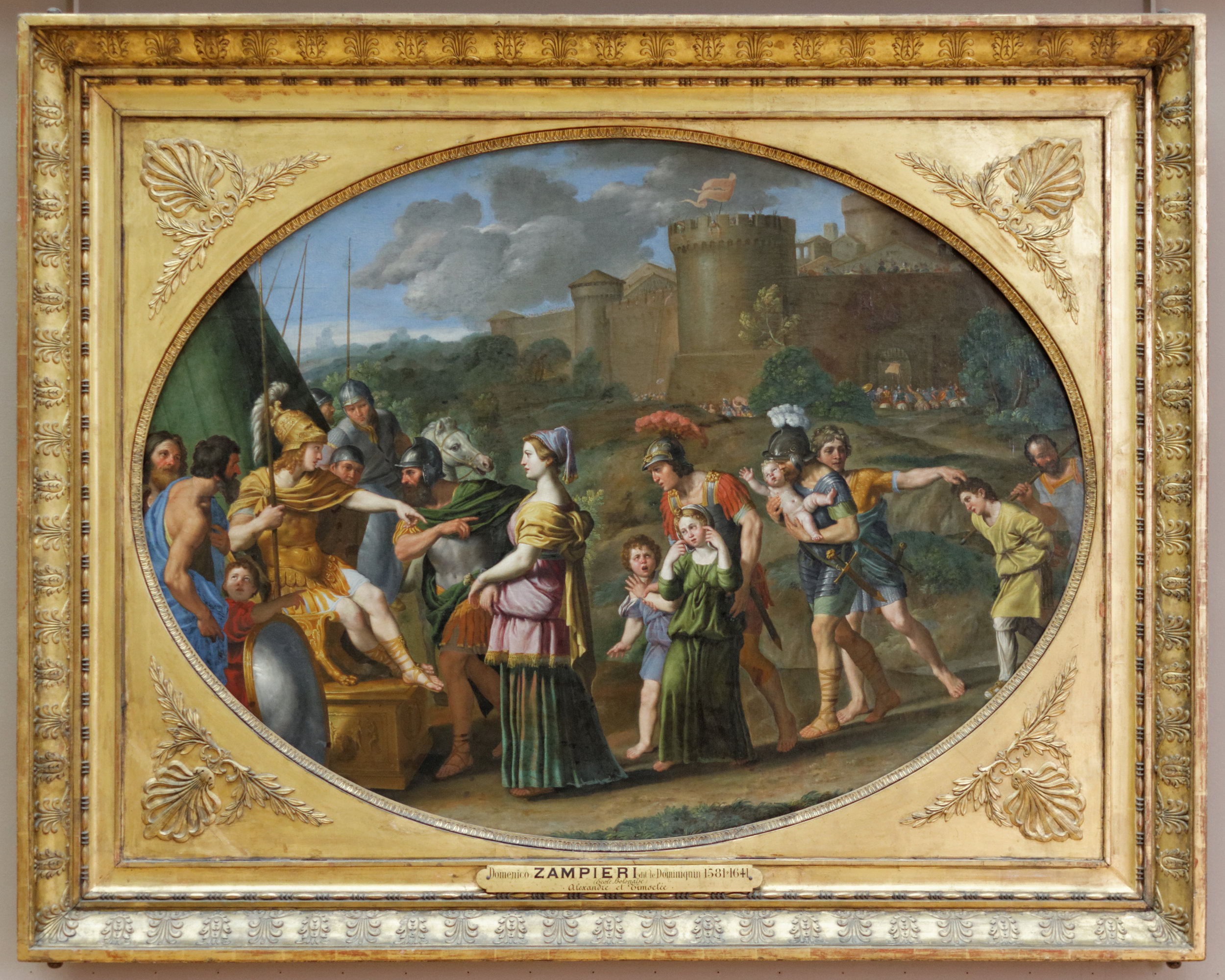 """""""Timoclea Before Alexander the Great"""" by Domenichino (1615), Musée du Louvre."""