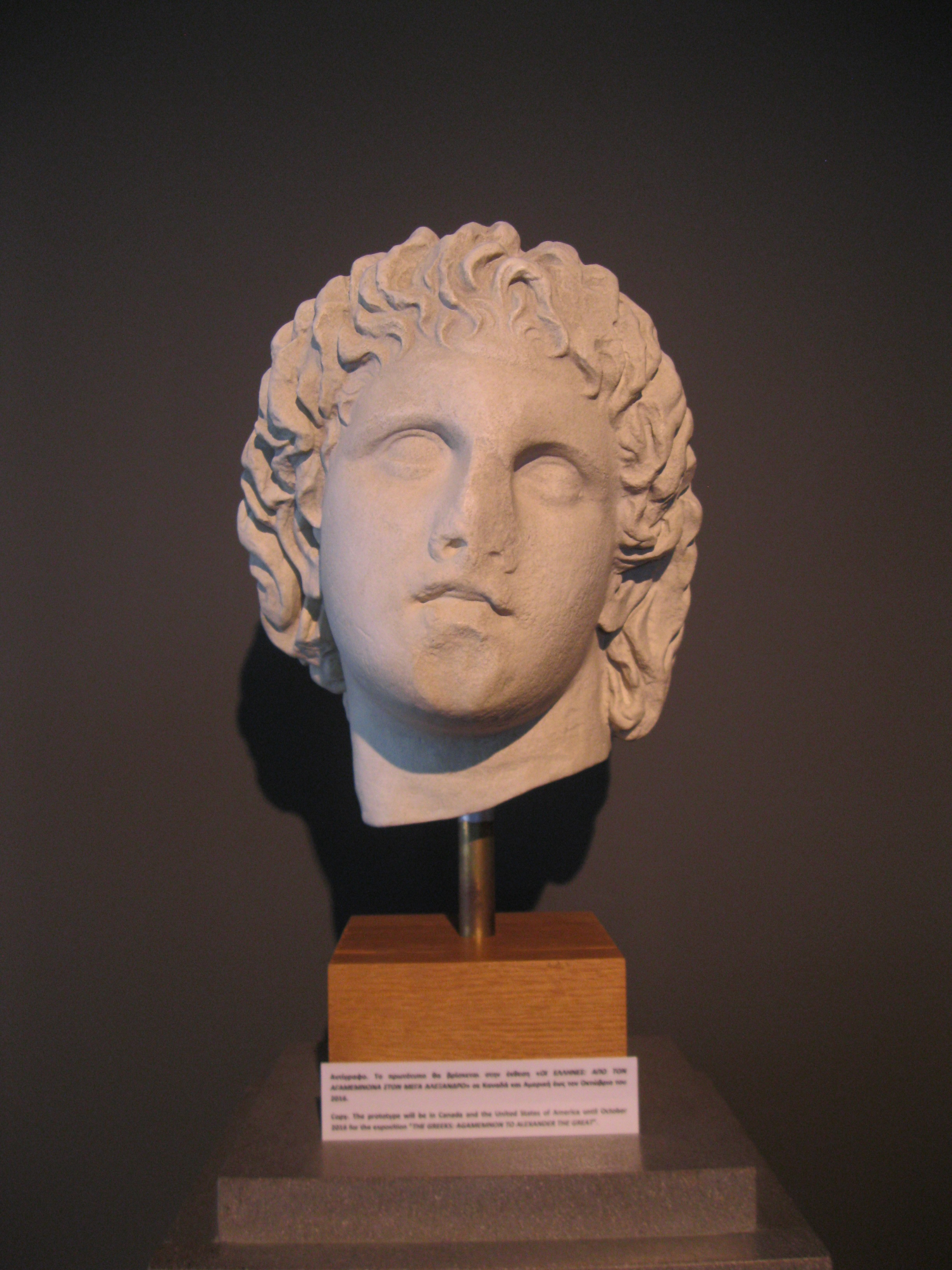 Alexander as a tender youth, Archaeological Museum of Pella.