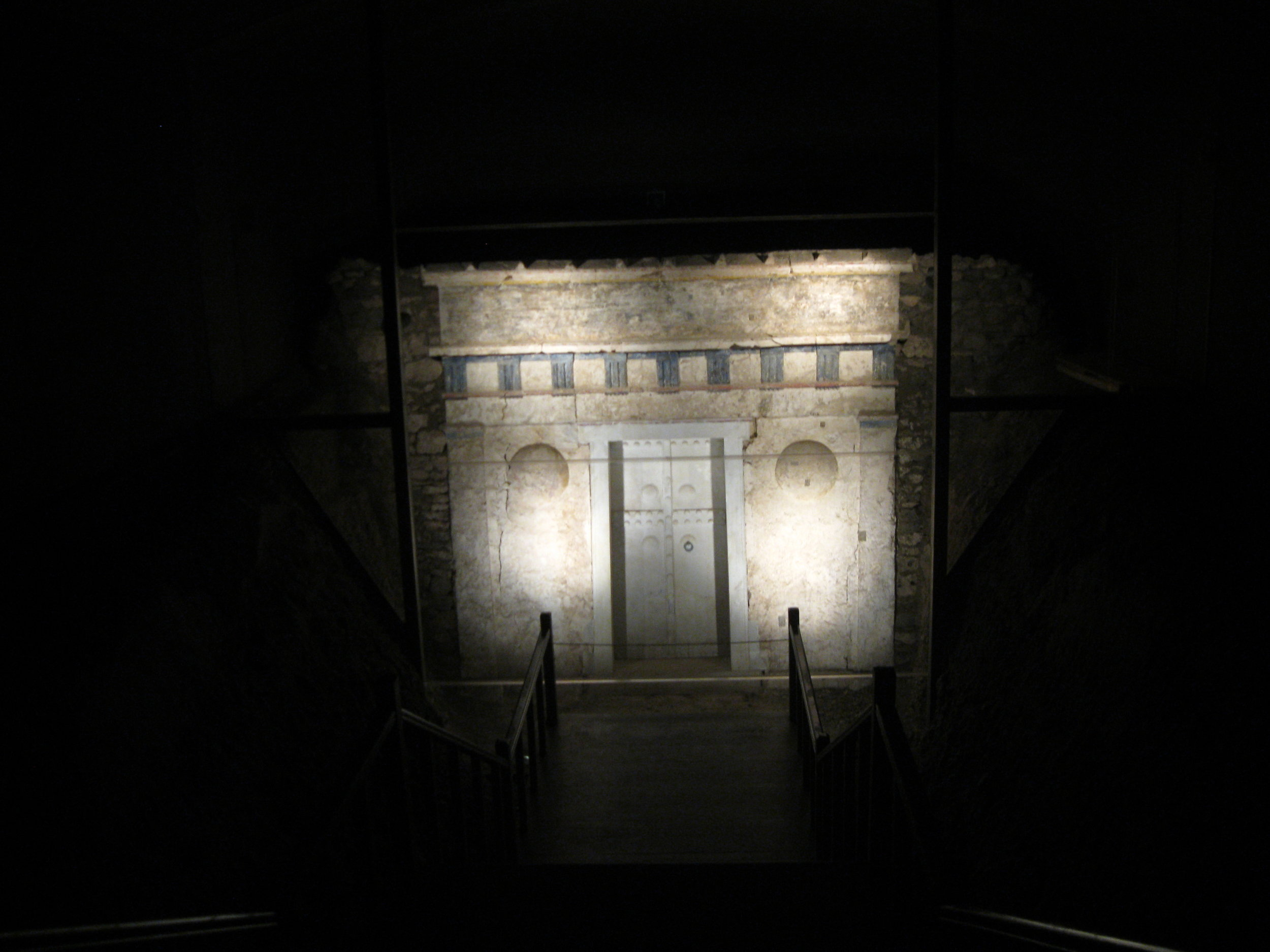 Entrance to Alexander IV's tomb. Photographs by Georgette Gouveia.